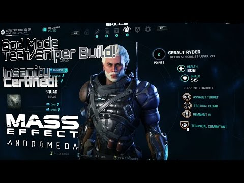 Mass Effect Andromeda - God Mode - Unlimited Ammo Tech-Sniper Build! Insanity Certified! |