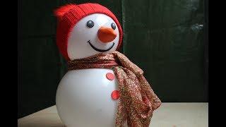DIY.Schneemann aus zwei alten,kaputten Solarlampen mit Beleuchtung /Sweet Snowman