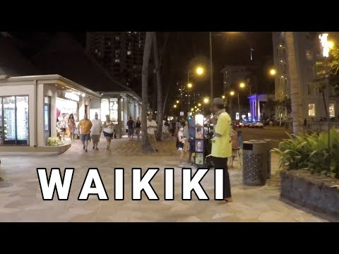Waikiki Beach, Honolulu, Hawaii | Night Walk