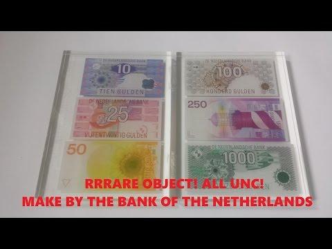 RARE 6 latest Netherlands banknotes UNC 1000 kievit 250 100 50 25 10 gulden