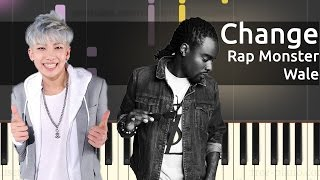 Baixar RM (Rap Monster), Wale - Change - Piano Tutorial - Chords
