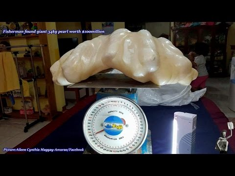 Giant pearl worth $100m that sat under Filipino fisherman's bed to go on display