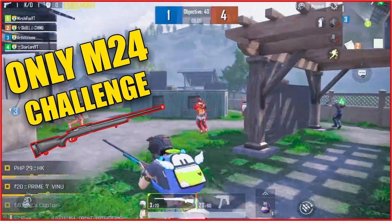 ONLY M24 CHALLENGE | PUBG MOBILE TDM MODE WITH M24 ...