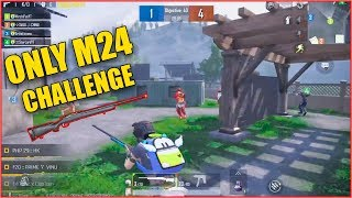 ONLY M24 CHALLENGE | PUBG MOBILE TDM MODE WITH M24 | MIRCHIFUN
