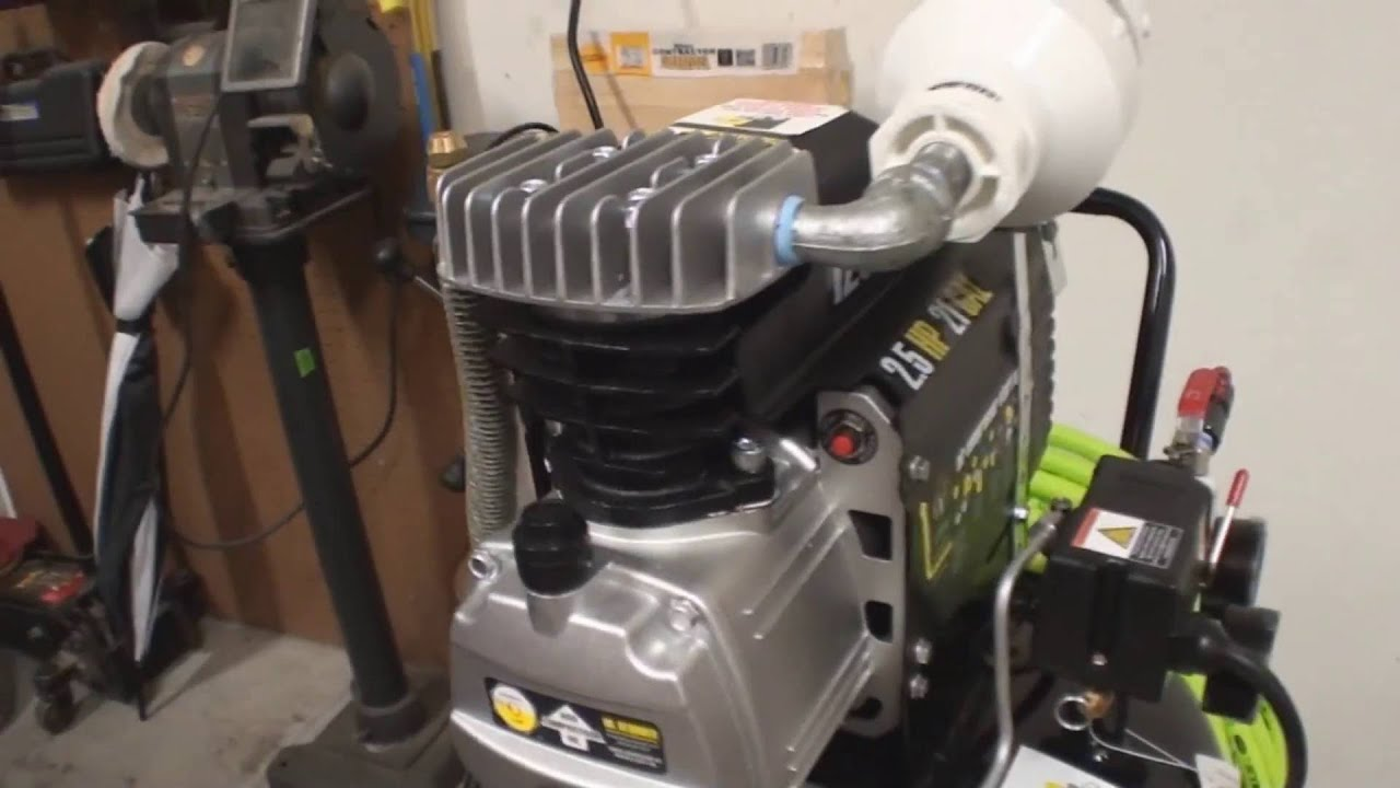 harbor freight air compressor parts. central pneumatic 21 gallon vertical air compressor from harbor freight - youtube parts g