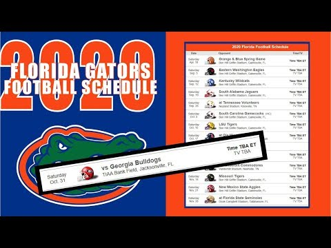 FLORIDA GATORS 2020 FOOTBALL SCHEDULE PREVIEW