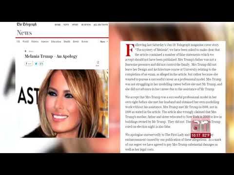 """""""The Telegraph"""" se disculpa e indemniza a Melania Trump por falsas informaciones"""