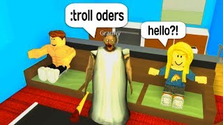 TROLLING AS GRANNY WITH ADMIN COMMANDS IN ROBLOX!