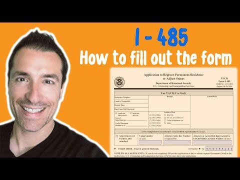 How to fill out the Form I-485 for an Adjustment of Status in the United States