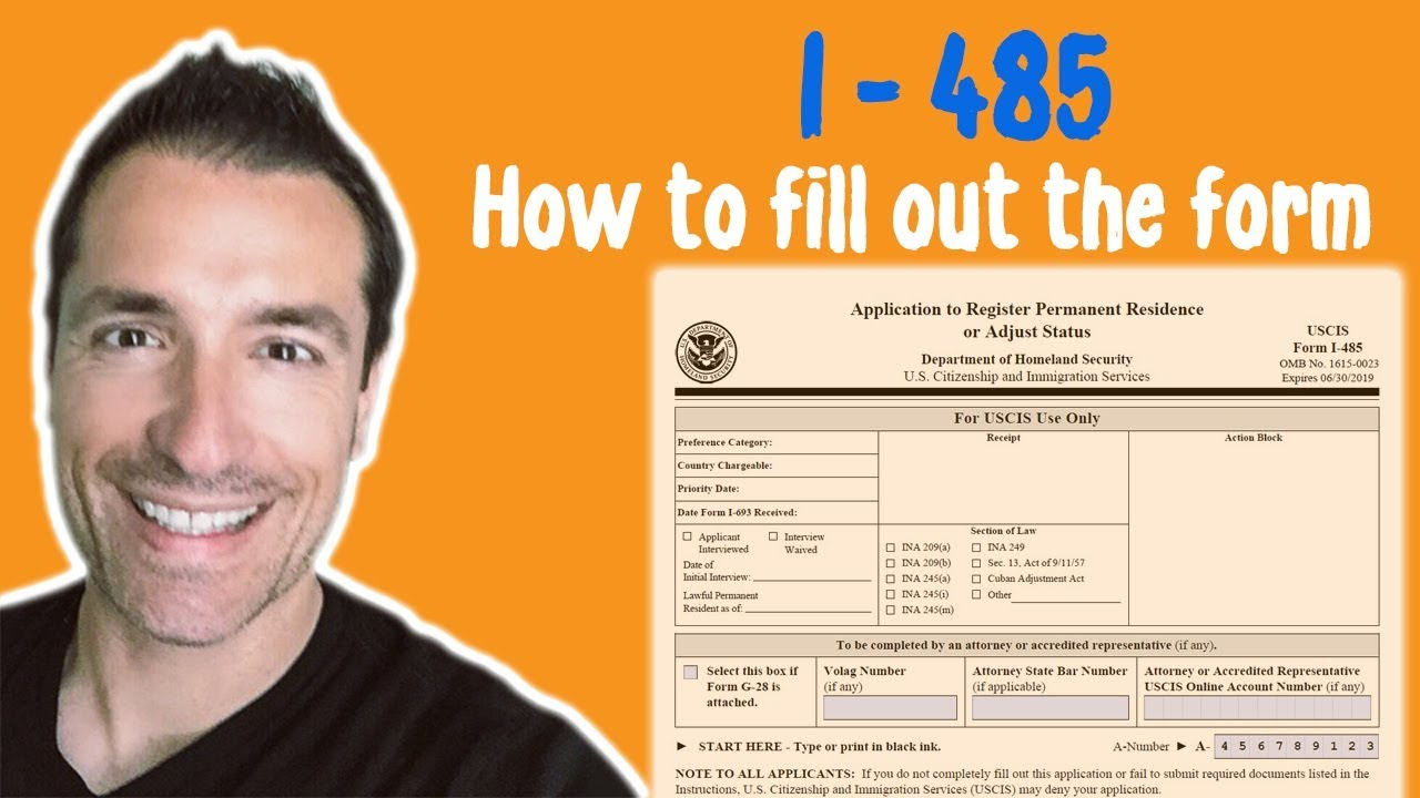 How to fill out the Form I-485 for an Adjustment of Status, Immigration  Lawyer in California