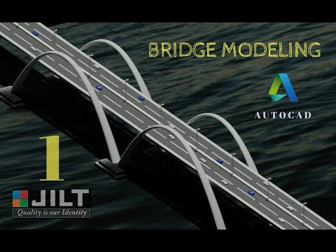 BRIDGE MODELING - AUTOCAD 3D -  DESIGN - 1 (Dimensions given for practice)