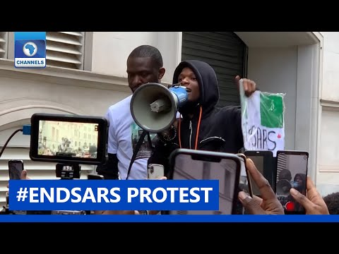 #EndSARS: Wizkid, Activists Protest Police Brutality In London