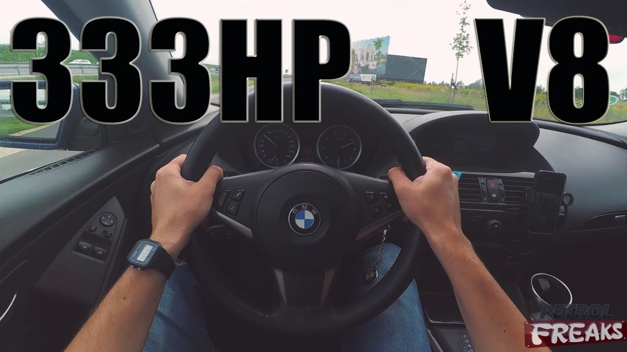 BMW E63 645CI V8 333HP POV ACCELERATION 0-170