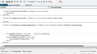 Ocultar y/o mostrar contraseña en Loguin Visual Studio