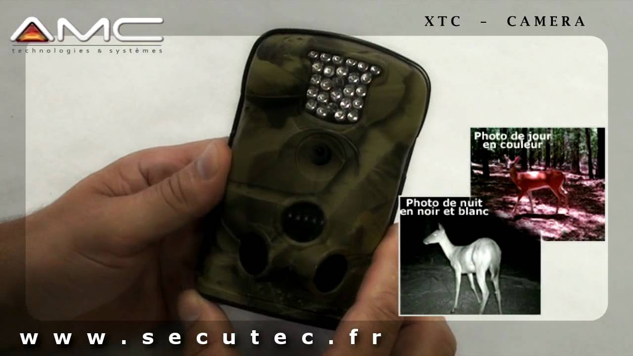 Camera Surveillance Autonome Exterieur Xtc-camera : Camera De Chasse Hd Camo Waterproof Detection