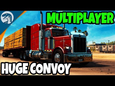 BIG TRANSPORT COMPANY & LARGE CONVOY | American Truck Simulator Multiplayer Gameplay