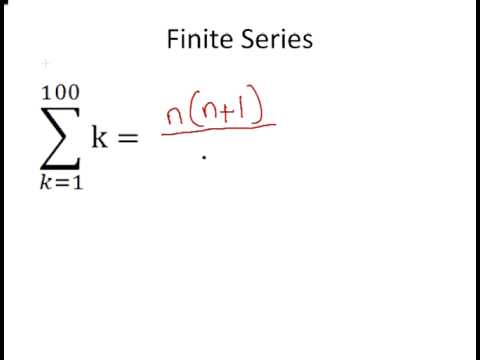 Discrete Mathematics : Finite Series