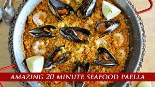 The Most AMAZING 20 MINUTE Seafood Paella
