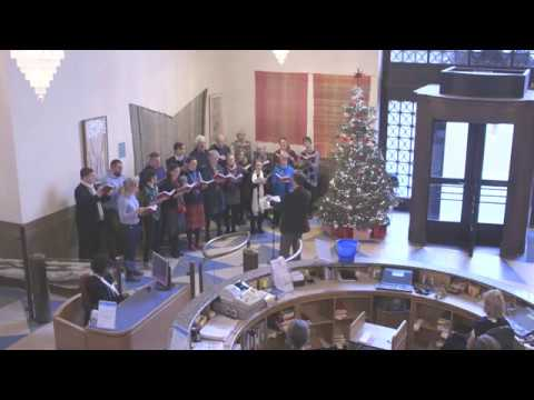 Christmas carols at Cambridge University Library on December 2017