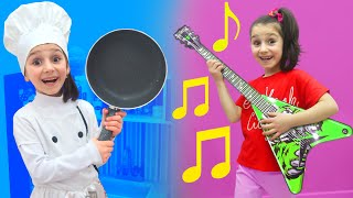 Kids Play Music and Hair Dress Up