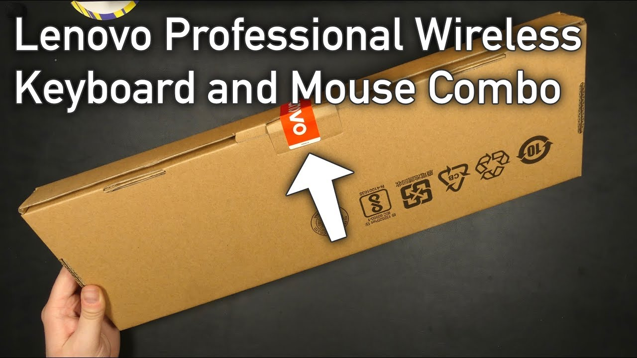 Lenovo Professional Wireless Keyboard And Mouse Combo Unboxing First Look