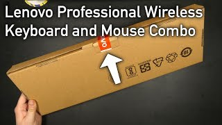 Lenovo Professional Wireless Keyboard and Mouse Combo - Unboxing & First Look