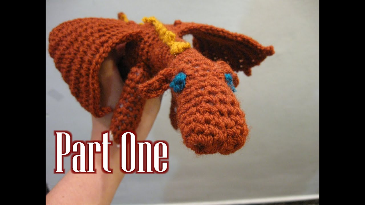 Crochet Amigurumi Fierce Dragon Tutorial pt 1 - YouTube