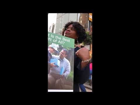 un-witnessing in New York city - ex Jehovah's Witnesses