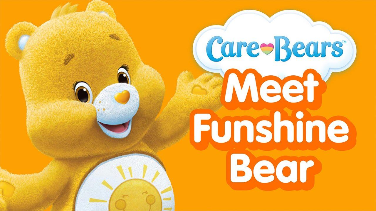 care bears meet fun shine bear badge