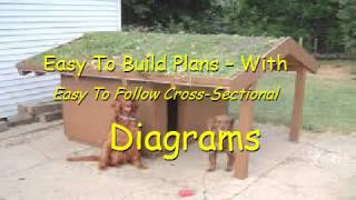 Flat Roof Dog House Plans