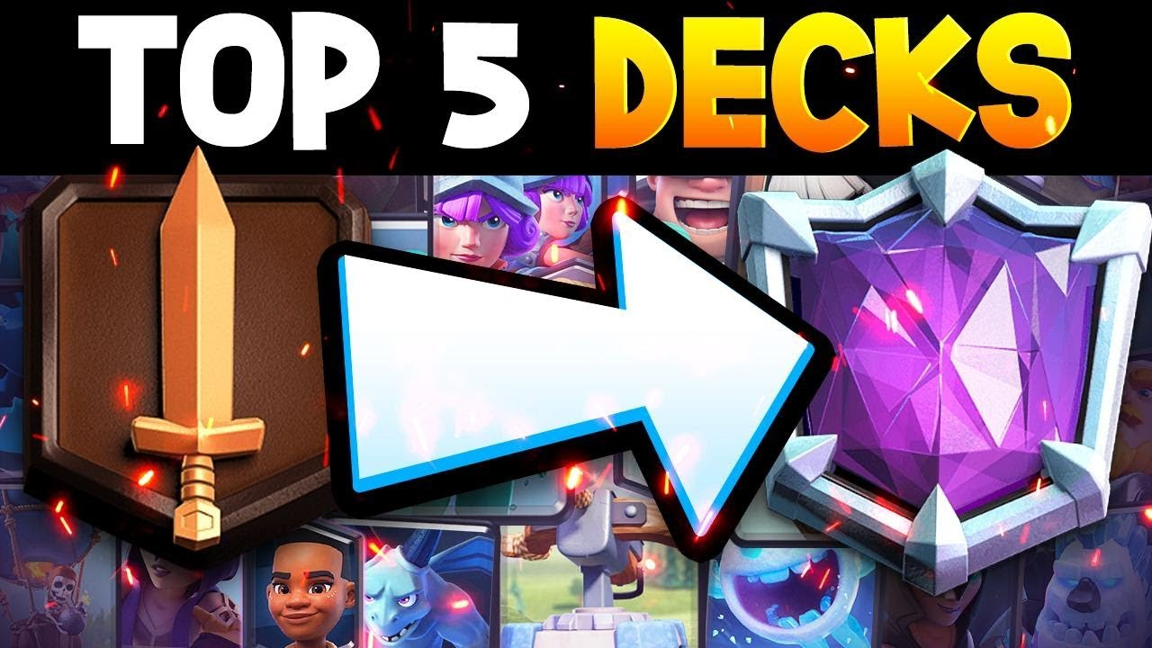Top 5 F2p Decks That Can Push To 7 000 Trophies Youtube
