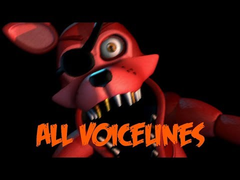 Rockstar Foxy | All Voicelines with Subtitles | Ultimate Custom Night