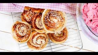 Swedish Cinnamon Rolls (Kanelbullar) Recipe☆Шведские Слоеные Булочки с Корицей Рецепт☆ASMR☆