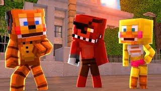 Minecraft: ESCOLINHA DE ANIMATRONICS - FREDDY CONHECEU O FOXY!! (FIVE NIGHTS AT FREDDY'S)#01