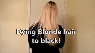 dying hair from bleach blonde to black like my soul