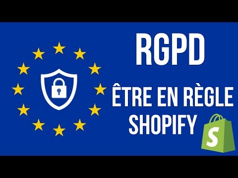 RGPD – E-commerce avec Shopify