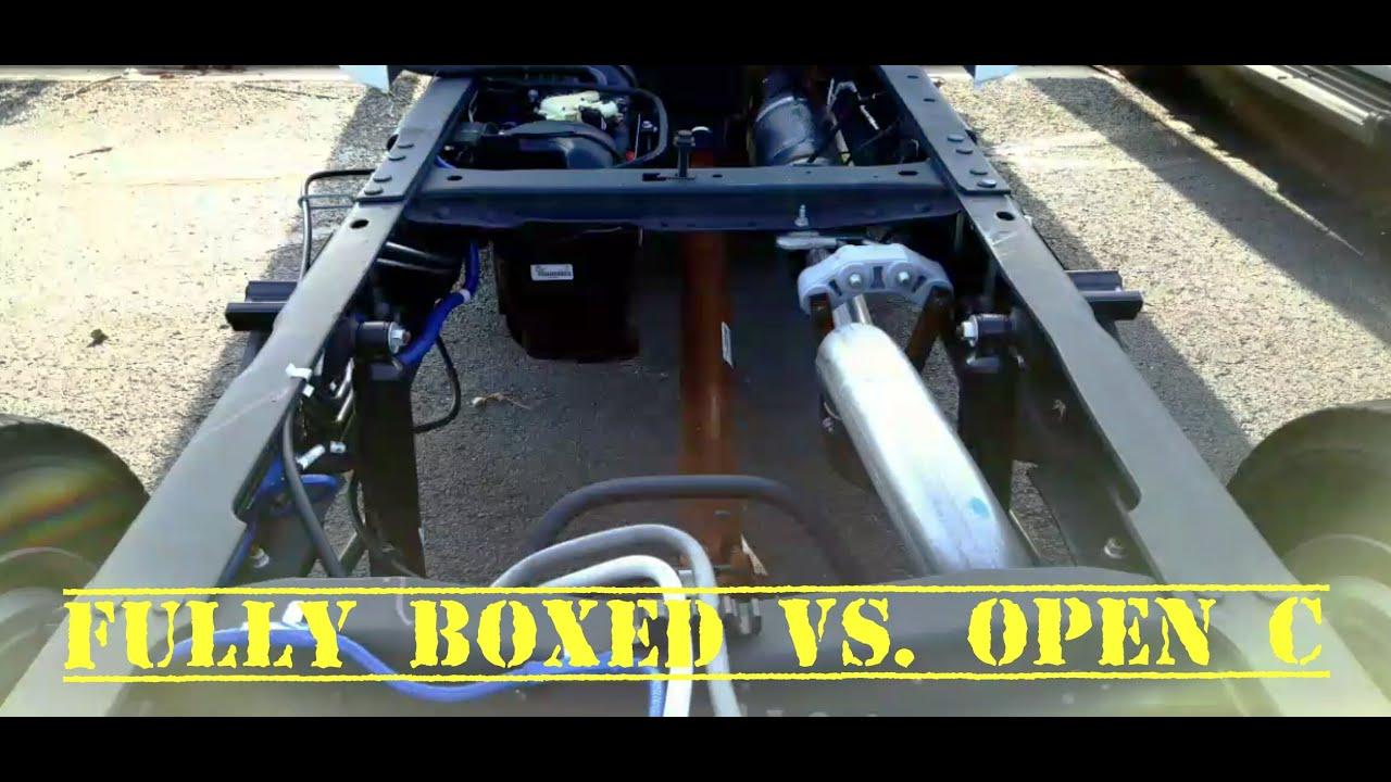 RAM & GM Boxed Vs Fords Open C frames on HD Pickups - YouTube