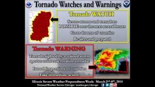Statewide Tornado Drill (EAS Activation) - Illinois Severe Weather Preparedness Week