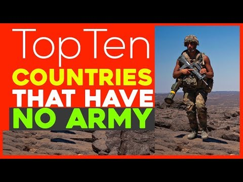 Top 10 Countries without Army or Military forces | Which Country has No Army, navy,  And Police
