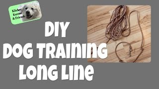 Diy Long Line For Dog Training
