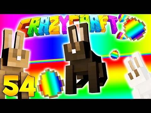 Minecraft CRAZY CRAFT 3.0 - EASTER BUNNY ROOM (EVERY MOB EGG) #54