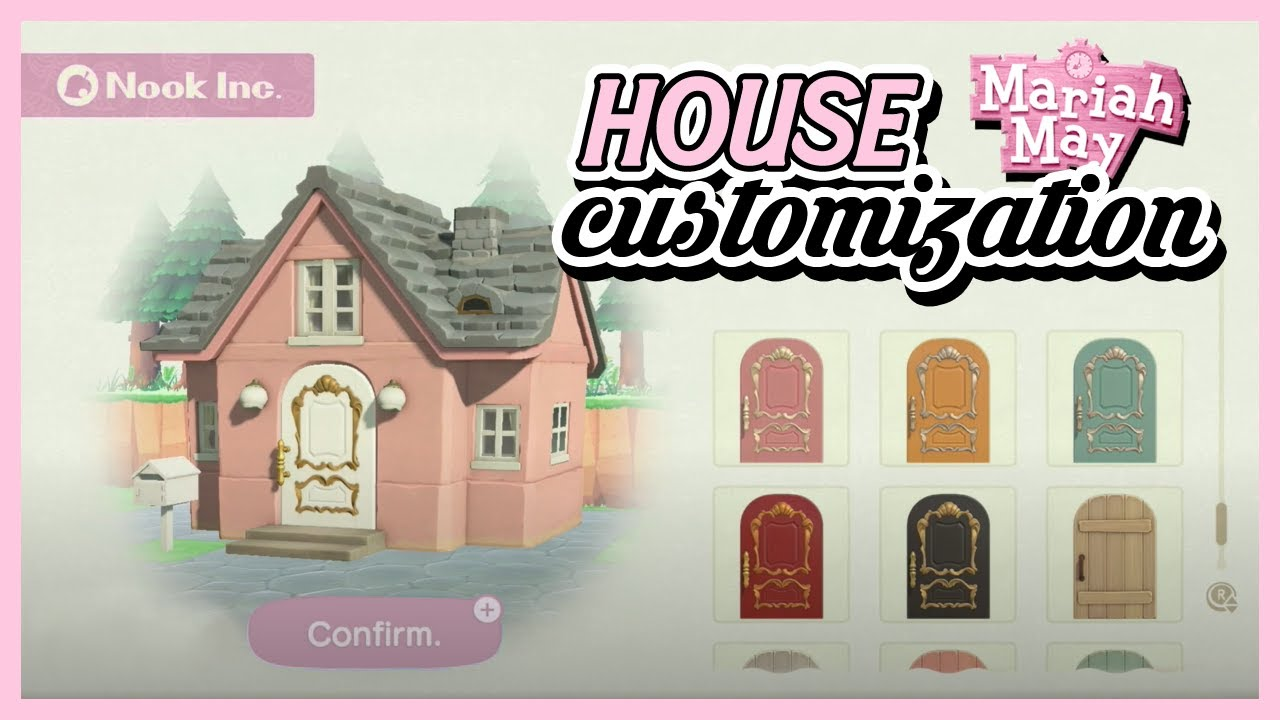 All House Customization Options Animal Crossing New Horizons Roof Colour Exterior Door Mailbox Youtube
