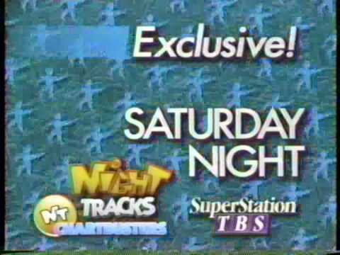 SuperStation TBS Night Tracks Chartbusters promo (MONO AUDIO)