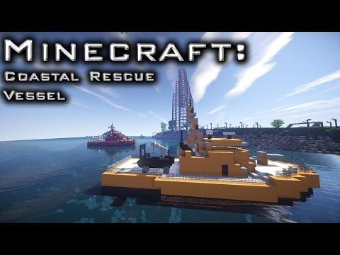 Minecraft: Large Coastal Rescue Vessel Tutorial
