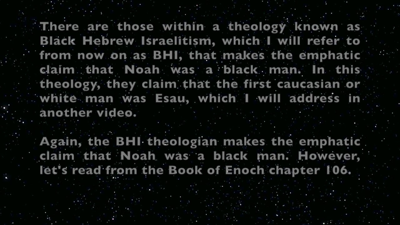 What Skin Color Did Noah Have? - YouTube