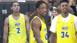 DeMar Derozan & Jordan Clarkson TEAM UP at The Drew League!