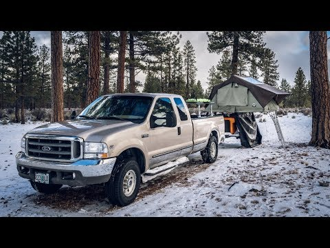 Roof Top Tent - Winter Camping Setup