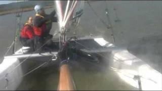 Backflip with Nacra F18 catamaran, Agárd