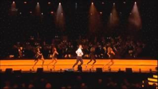 Danielle Peazer dancing for Matthew Morrison at the Olivier Awards 2013