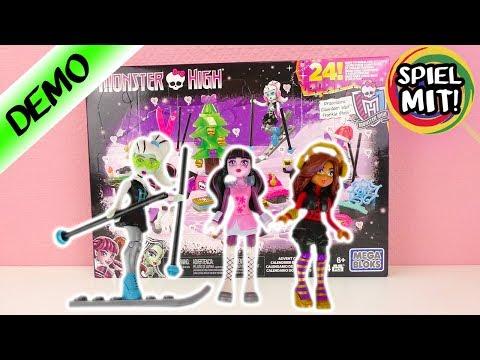 Monster High Adventskalender 2017   Draculaura, Frankie Stein & Claudeen Wolf im Advent   Megabloks